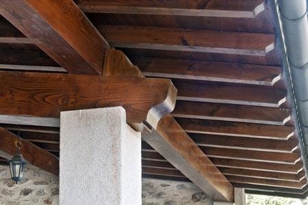Vigas de madera pontones puertas macizas casta o - Vigas de madera huecas ...